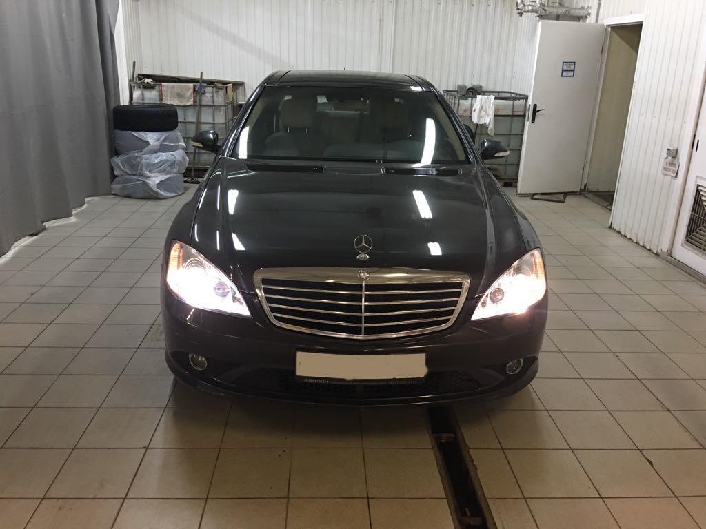 Ремонт фар Mercedes W221